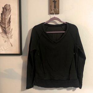 Lululemon v neck charcoal kangaroo pocket pullover